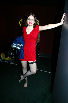 Queerios! Cast Member Margaux Binder at The Rocky Horror Picture Show - Austin, Texas