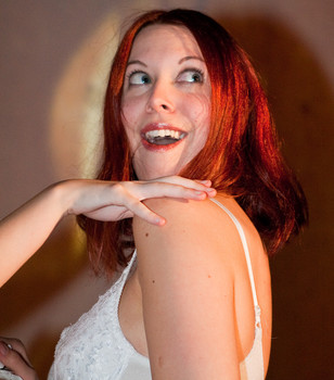 Queerios! Cast Member Summer Stinson at The Rocky Horror Picture Show - Austin, Texas