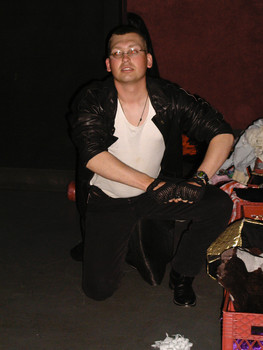 Queerios! Cast Member David Petty at The Rocky Horror Picture Show - Austin, Texas