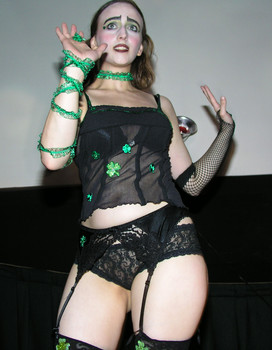 """Queerios! Cast Member Gillian (""""Limey"""") at The Rocky Horror Picture Show - Austin, Texas"""