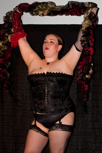 Queerios! Cast Member Brittany Keener as Columbia at The Rocky Horror Picture Show - Austin, Texas
