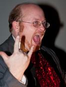 Queerios! Cast Member Stevo Davis as Criminologist at The Rocky Horror Picture Show - Austin, Texas
