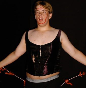 Queerios! Cast Member Alex Mather at The Rocky Horror Picture Show - Austin, Texas