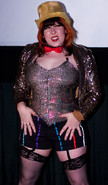 Queerios! Cast Member Renn Little at The Rocky Horror Picture Show - Austin, Texas