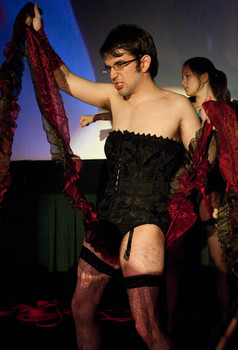 Queerios! Cast Member Brandon Cornell at The Rocky Horror Picture Show - Austin, Texas