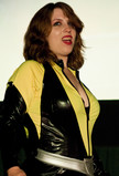 "Queerios! Cast Member Jessica (""Dynasty"") Alonzo at The Rocky Horror Picture Show - Austin, Texas"
