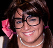 """Queerios! Cast Member Briana (""""Skye"""") Zamora at The Rocky Horror Picture Show - Austin, Texas"""