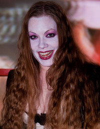 Queerios! Cast Member Madame Leah Jones as Magenta at The Rocky Horror Picture Show - Austin, Texas