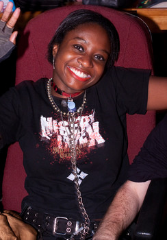 "Queerios! Cast Member Brittany (""Kitten"") Carmon at The Rocky Horror Picture Show - Austin, Texas"
