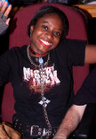 """Queerios! Cast Member Brittany (""""Kitten"""") Carmon at The Rocky Horror Picture Show - Austin, Texas"""
