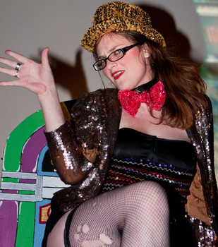 Queerios! Cast Member Kerry Ann Scherer at The Rocky Horror Picture Show - Austin, Texas
