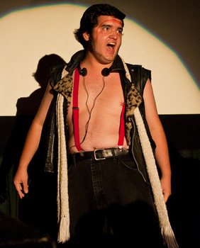 Queerios! Cast Member Sebastian Garcia at The Rocky Horror Picture Show - Austin, Texas