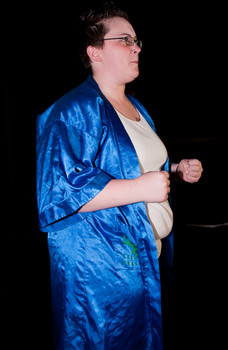 Queerios! Cast Member Misty Traylor at The Rocky Horror Picture Show - Austin, Texas