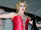 Queerios! Cast Member Jessica Smith as Dr. Frank-N-Furter at The Rocky Horror Picture Show - Austin, Texas