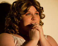 Queerios! Cast Member Raini Shuffield as Janet Weiss at The Rocky Horror Picture Show - Austin, Texas