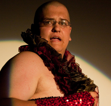 Queerios! Cast Member Spencer Scherer at The Rocky Horror Picture Show - Austin, Texas