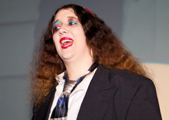 Queerios! Cast Member Shannon Hurn as Brad Majors at The Rocky Horror Picture Show - Austin, Texas