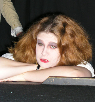 Queerios! Cast Member Hez Lesh at The Rocky Horror Picture Show - Austin, Texas