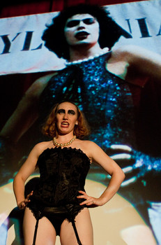 "Queerios! Cast Member Brittany (""Bucket"") T. at The Rocky Horror Picture Show - Austin, Texas"