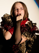 Queerios! Cast Member Jessica Fly as Janet Weiss at The Rocky Horror Picture Show - Austin, Texas