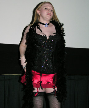 Queerios! Cast Member Claire at The Rocky Horror Picture Show - Austin, Texas