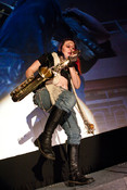 Queerios! Cast Member Renn Little as Eddie at The Rocky Horror Picture Show - Austin, Texas