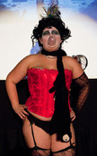 Queerios! Cast Member Vicky V. at The Rocky Horror Picture Show - Austin, Texas