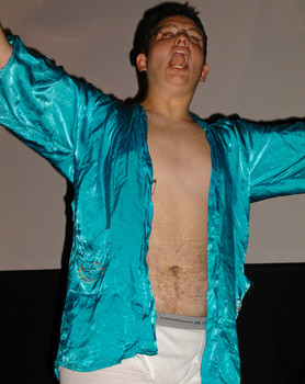 Queerios! Cast Member Jason Stewart (R.I.P.) at The Rocky Horror Picture Show - Austin, Texas