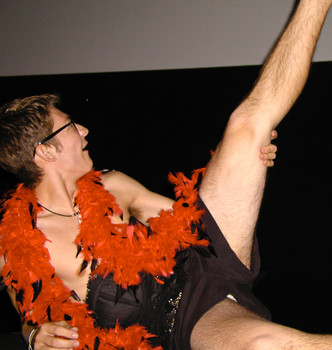Queerios! Cast Member Dustin Hensley at The Rocky Horror Picture Show - Austin, Texas