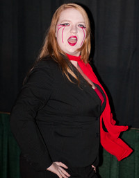 Queerios! Cast Member Amy Helfenbein as Transylvanian at The Rocky Horror Picture Show - Austin, Texas