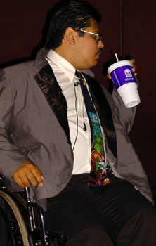 Queerios! Cast Member Chuy  at The Rocky Horror Picture Show - Austin, Texas