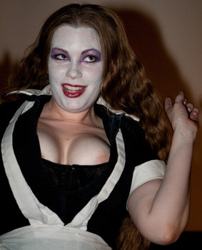 Queerios! Cast Member Madame Leah Jones at The Rocky Horror Picture Show - Austin, Texas