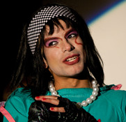 "Queerios! Cast Member Rob (""Chibbi"")  as Dr. Frank-N-Furter at The Rocky Horror Picture Show - Austin, Texas"