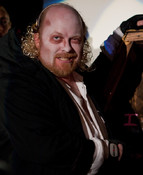 Queerios! Cast Member Stevo Davis as Riff Raff at The Rocky Horror Picture Show - Austin, Texas