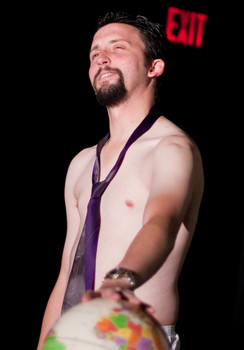 """Queerios! Cast Member James (""""Strawboy"""") Hanson at The Rocky Horror Picture Show - Austin, Texas"""
