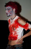 """Queerios! Cast Member Rob (""""Chibbi"""")  at The Rocky Horror Picture Show - Austin, Texas"""