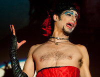 """Queerios! Cast Member Rob (""""Chibbi"""")  as Dr. Frank-N-Furter at The Rocky Horror Picture Show - Austin, Texas"""