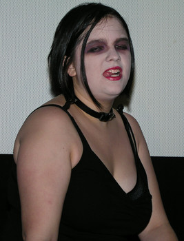 """Queerios! Cast Member Mallory (""""Kitty"""") McKenney at The Rocky Horror Picture Show - Austin, Texas"""