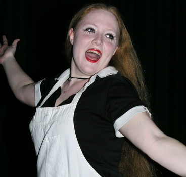 Queerios! Cast Member Morgan White at The Rocky Horror Picture Show - Austin, Texas
