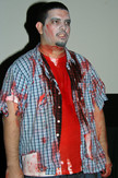 Queerios! Cast Member Xavier Samaniego at The Rocky Horror Picture Show - Austin, Texas