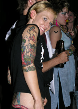 """Queerios! Cast Member Kristian (""""Angel"""") L. at The Rocky Horror Picture Show - Austin, Texas"""