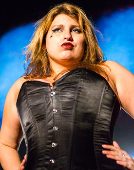 Queerios! Cast Member Teddy Michelle at The Rocky Horror Picture Show - Austin, Texas