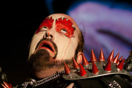 Queerios! Cast Member Stevo Davis as Dr. Frank-N-Furter at The Rocky Horror Picture Show - Austin, Texas