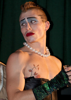 Queerios! Cast Member Eli Oldham at The Rocky Horror Picture Show - Austin, Texas