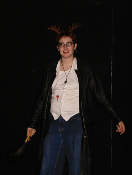 Queerios! Cast Member Toto Kaos at The Rocky Horror Picture Show - Austin, Texas