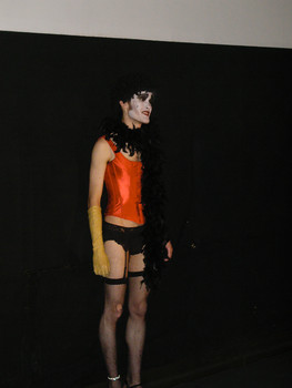 Queerios! Cast Member Forrest at The Rocky Horror Picture Show - Austin, Texas