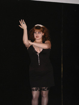 Queerios! Cast Member Kandie Betsill at The Rocky Horror Picture Show - Austin, Texas