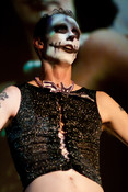 Queerios! Cast Member Kevin Keener as Dr. Frank-N-Furter at The Rocky Horror Picture Show - Austin, Texas