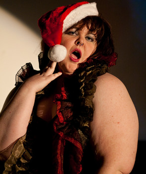 """Queerios! Cast Member Mandy (""""Velma"""") Tucker at The Rocky Horror Picture Show - Austin, Texas"""